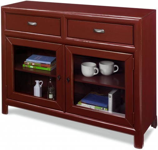 Shelby Barn Red Curio Cabinet
