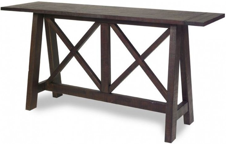 Vineyard Distressed Root Beer Console Table