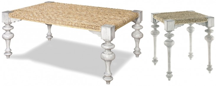 Hannah Natural Abaca Woven Occasional Table Set