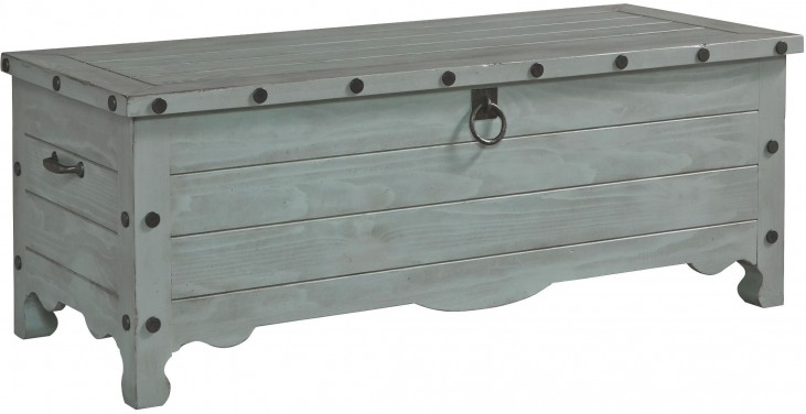 Jesse Mineral Gray Storage Trunk