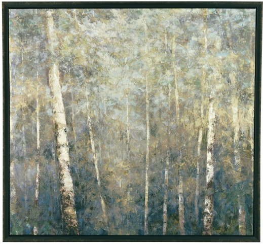 Framed Birch Trees framed Canvas Wall Art
