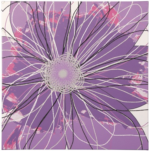 Berdina Purple Multi Wall Art