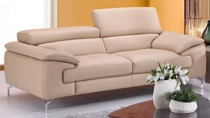 A973 Peanut Italian Leather Loveseat