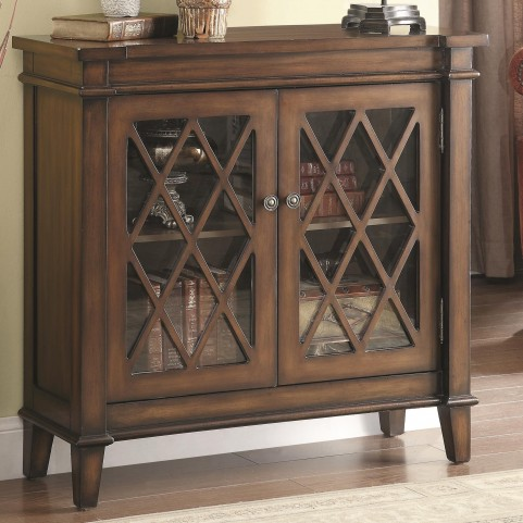 950348 Lattice Overlay Accent Cabinet