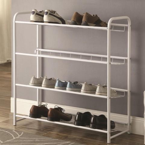 950017 White Lightweight Shoe Rack