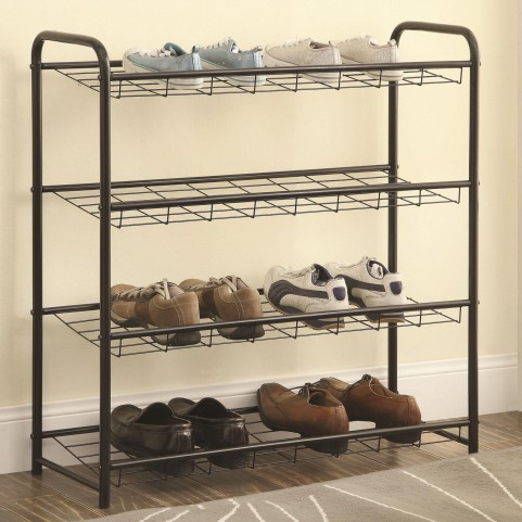 950031 Black Lightweight Shoe Rack