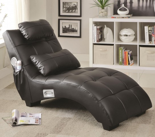 550018 Upholstered Chaise with Lumbar Pillow