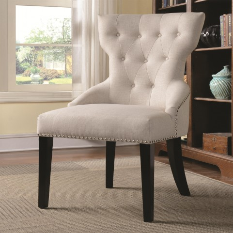 902238 Button Tufted Back Chair