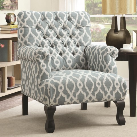 902406 Blue Tufting Accent Chair
