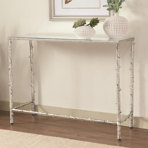 950359 Glass Top Console Table
