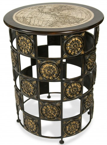 Discoveries Round Accent Table