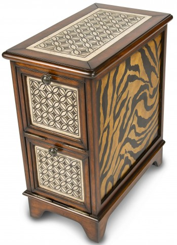 Discoveries Stone Inlay Chairside Table