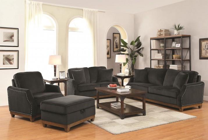Acklin Charcoal Living Room Set