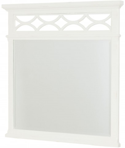 Lynn Haven Soft Dover White Landscape Mirror