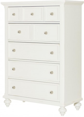 Lynn Haven Soft Dover White Drawer Chest