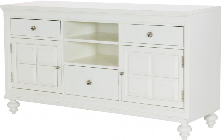"Lynn Haven Soft Dover White 62"" Entertainment Console"