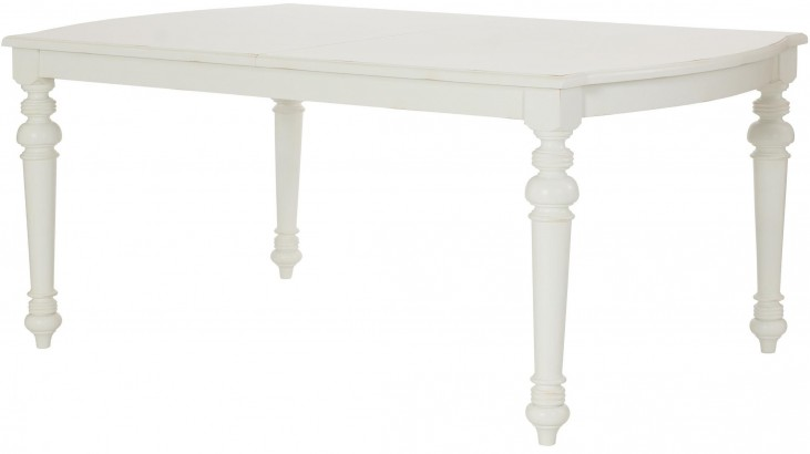 Lynn Haven Soft Dover White Extendable Leg Dining Table