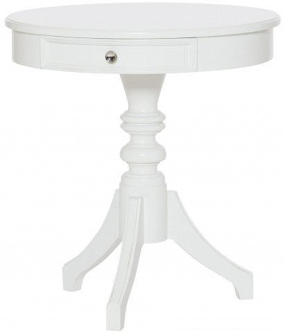 Lynn Haven Soft Dover White Round Accent Table