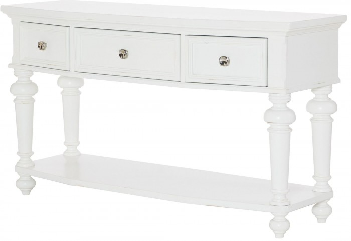 Lynn Haven Soft Dover White Console Table