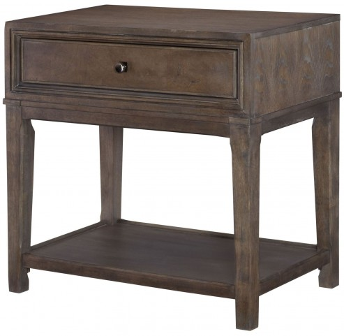 Park Studio Weathered Taupe Leg Nightstand