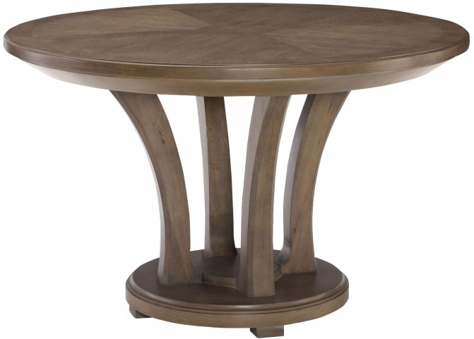 "Park Studio Weathered Taupe 48"" Round Dining Table"