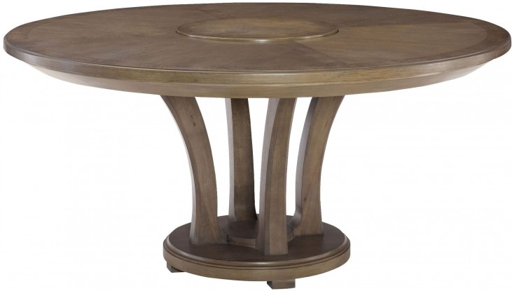 "Park Studio Weathered Taupe 62"" Round Dining Table"