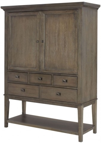 Park Studio Weathered Taupe Bar Cabinet