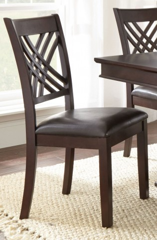 Adrian Dark Brown Side Chair Set of 2