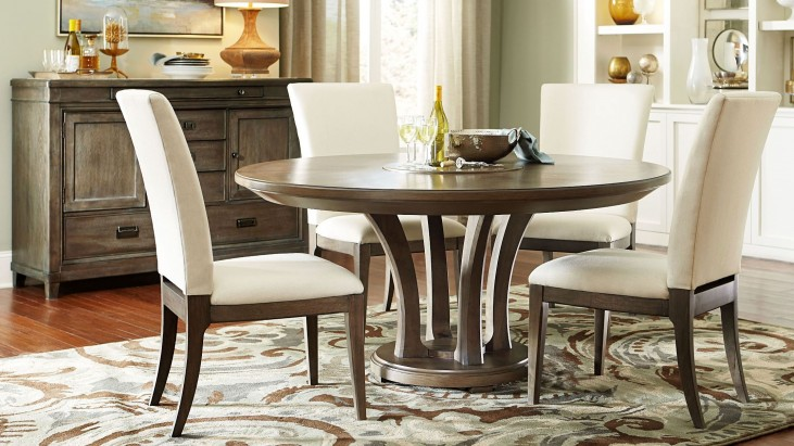 "Park Studio Weathered Taupe 62"" Round Dining Room Set"