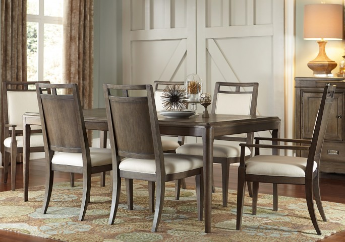 Park Studio Weathered Taupe Extendable Rectangular Dining Room Set