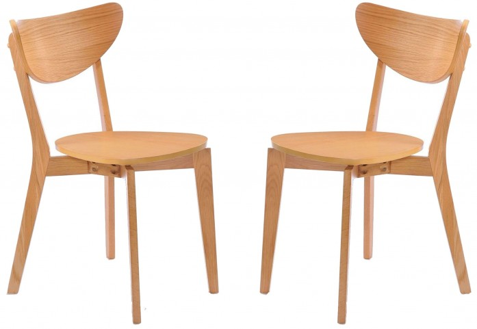 Simply Scandinavian Arlington Oak Side Chair Set of 2