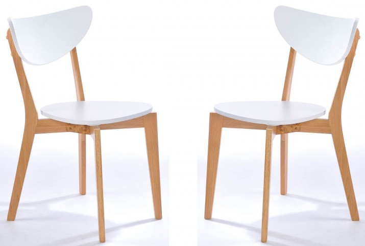 Simply Scandinavian Arlington White Side Chair Set of 2