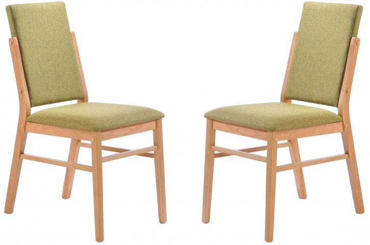 Simply Scandinavian Bedford Green Side Chair Set of 2