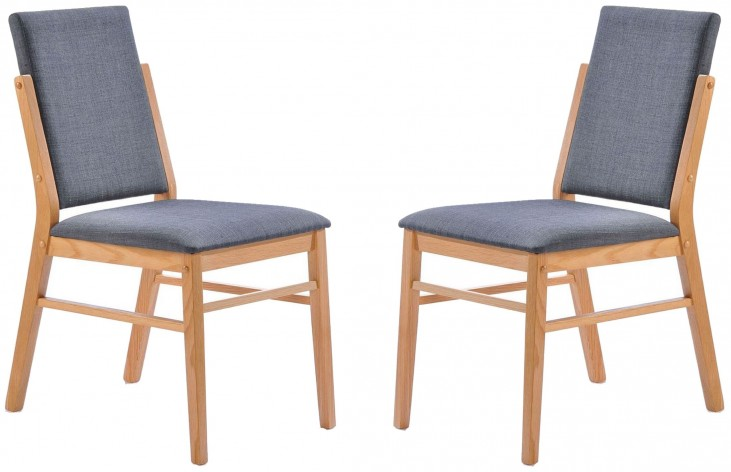 Simply Scandinavian Bedford Gray Side Chair Set of 2