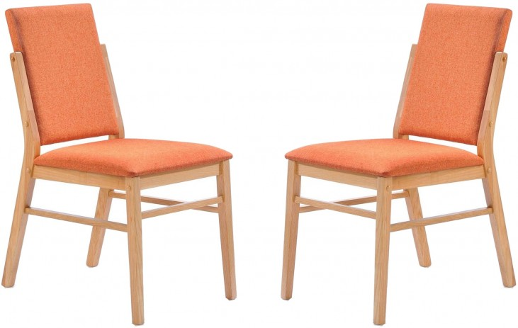 Simply Scandinavian Bedford Orange Side Chair Set of 2