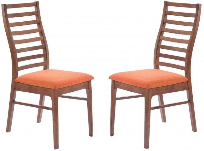 Simply Scandinavian Lexington Orange Side Chair Set of 2