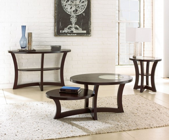 Alice Espresso Occasional Table Set