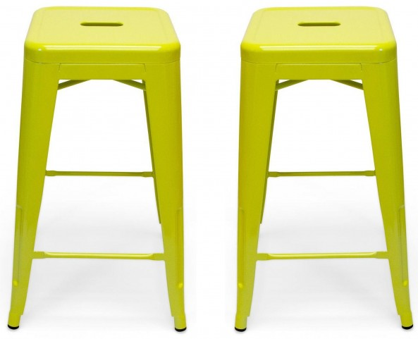 Classic Cafe Galaxy Lime Counter Stool Set of 2