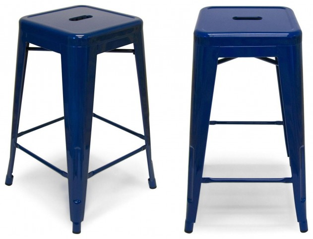 Classic Cafe Galaxy Navy Counter Stool Set of 2