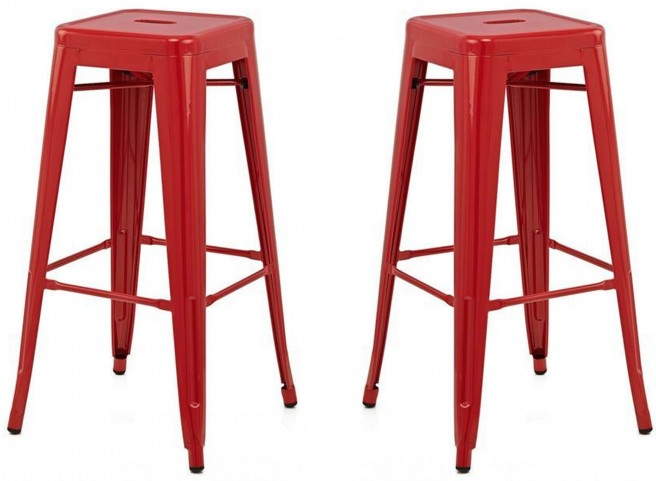 Classic Cafe Galaxy Red Barstool Set of 2