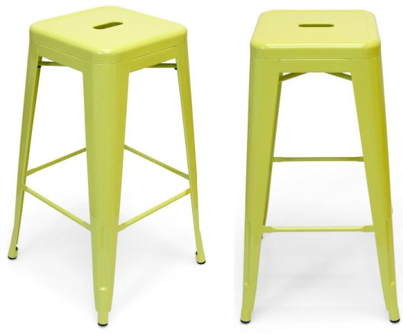 Classic Cafe Galaxy Lime Barstool Set of 2