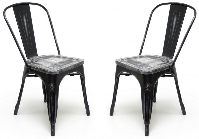 Classic Cafe Garvin 2 Black Chair Set of 2