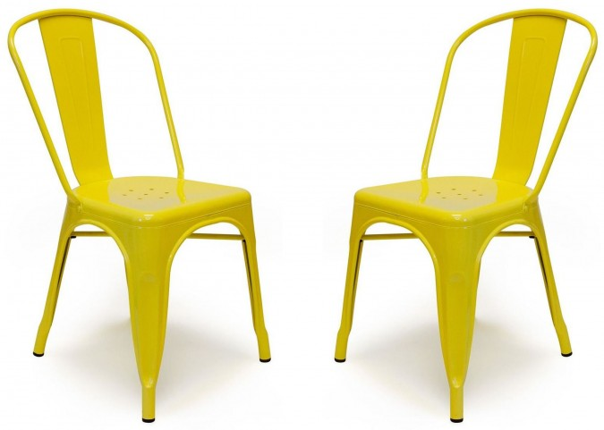 Classic Cafe Garvin 1 Yellow Chair Set of 2