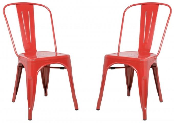 Classic Cafe Garvin 1 Red Chair Set of 2