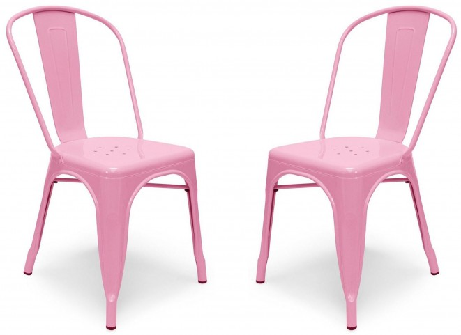 Classic Cafe Garvin 1 Pink Chair Set of 2