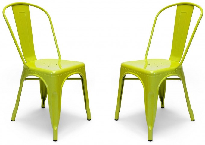 Classic Cafe Garvin 1 Lime Chair Set of 2