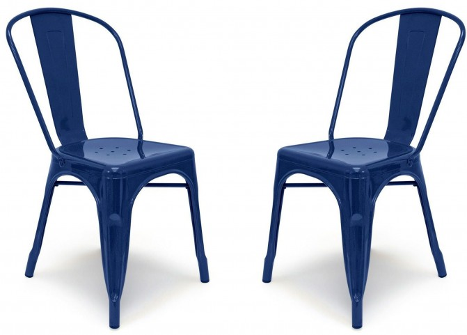 Classic Cafe Garvin 1 Navy Chair Set of 2