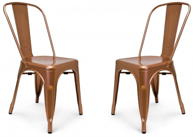 Classic Cafe Garvin 1 Copper Chair Set of 2