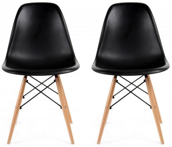 Euro Home Paris 2 Black Chair Set of 2