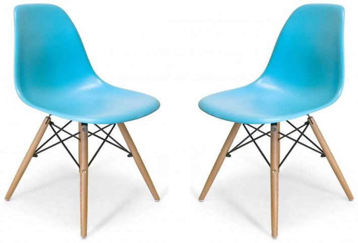 Euro Home Paris 2 Blue Chair Set of 2